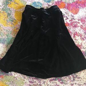 Lands End Velvet Skirt